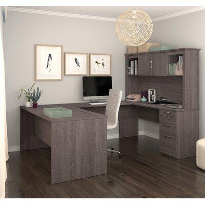 Pratyush U-Shape Executive Desk Color: Bark Gray