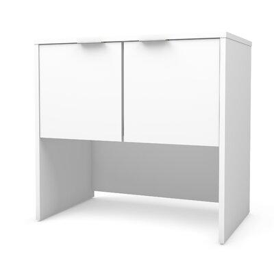 "Prattsburgh 28.3"" H x 30.1"" W Desk Hutch Finish: White"