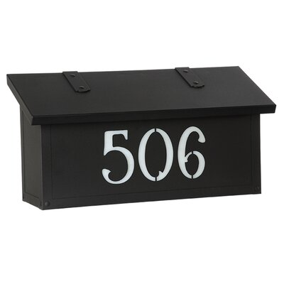 Classic Wall Mounted Mailbox Finish: Textured Black, Glass Color: Honey