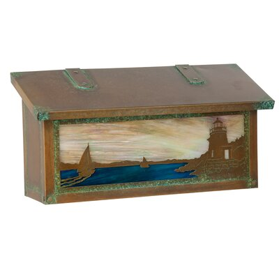 Coastal Cottage Wall Mounted Mailbox Glass: Champagne, Finish: New Verde