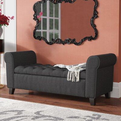Havelock Upholstered Storage Bench Upholstery: Dark Grey