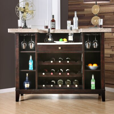 D'Amato Transitional Bar Table with Wine Storage