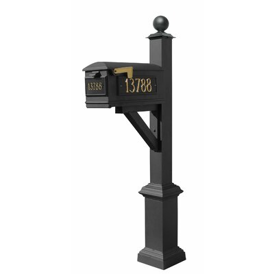 Westhaven Lewiston Mailbox with Post Included Color: Black