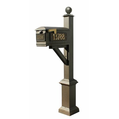 Westhaven Lewiston Mailbox with Post Included Color: Bronze
