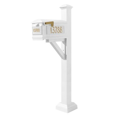 Westhaven Lewiston Mailbox with Post Included Color: White