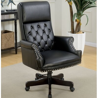 Drumlee Office Chair Color: Black