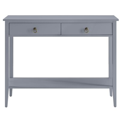 Clair Console Table Color: Gray