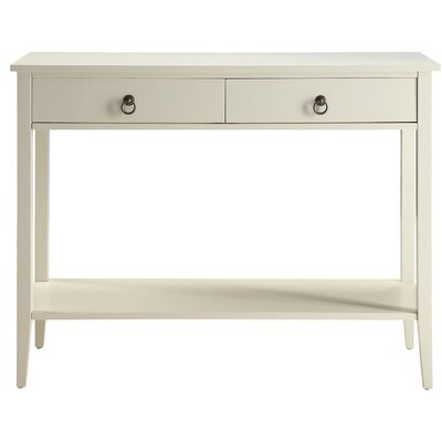 Clair Console Table Color: White