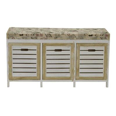 Ackerman Paris Cushion 3 Door Wood Storage Bench