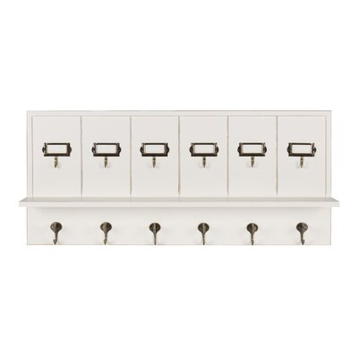 Mccay Key Hook Wall Mounted Coat Rack Color: Soft White