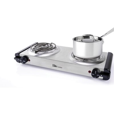 Cuisine Stainless Steel Electric Double Burner