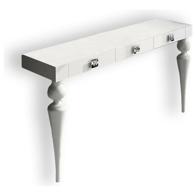 "Kondo Console Table Size: 29.5"" H x 59"" W x 15.6"" D, Color: High Gloss"