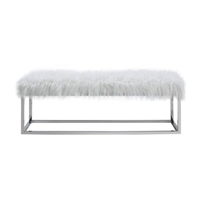 """Lanz Upholstered Bench Size: 17.5"""" H x 53"""" W x 18"""" L, Upholstery: Ivory"""