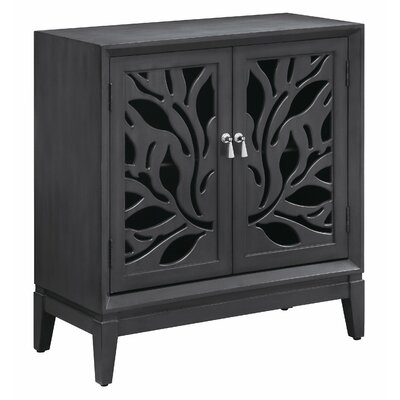 Elwell Cut Panel 2 Door Accent Cabinet