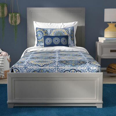 Iesha Panel Bed Bed Frame Color: Dove Gray, Size: Full