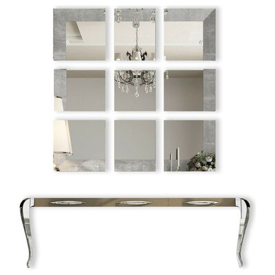 Fernwood Console Table and Mirror Set Color: High Gloss