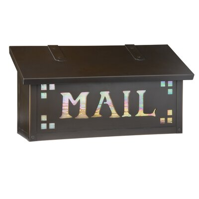 Pasadena Wall Mounted Mailbox Finish: Architectural Bronze, Glass Color: Champagne