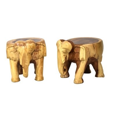 Nault Elephant Accent Stool