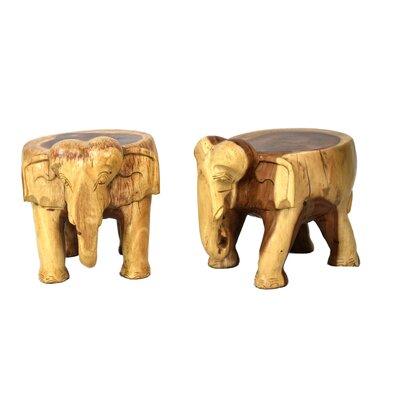 Nault Elephant Accent Stool