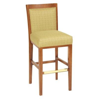 "30"" Bar Stool Upholstery Color: Howdy Magnetite, Frame Color: English Oak"
