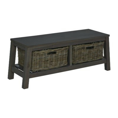 Vasbinder Wood Storage Bench