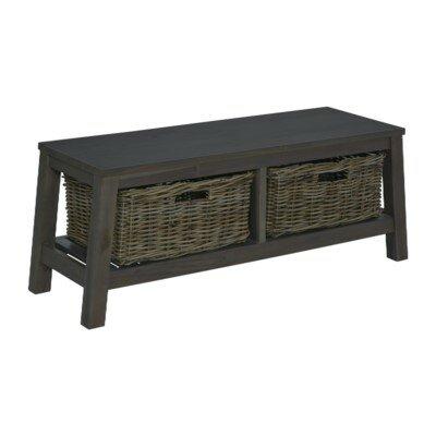 Vasbinder Wood Storage Bench