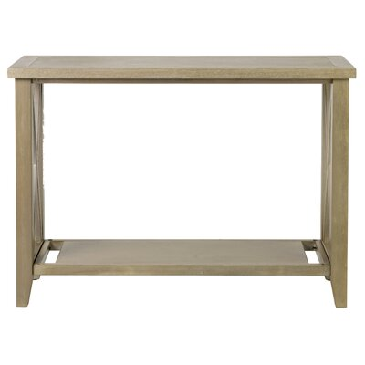 Elida Console Table Color: Gray