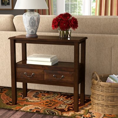 Bockman Console Table Color: Brown Mahogany