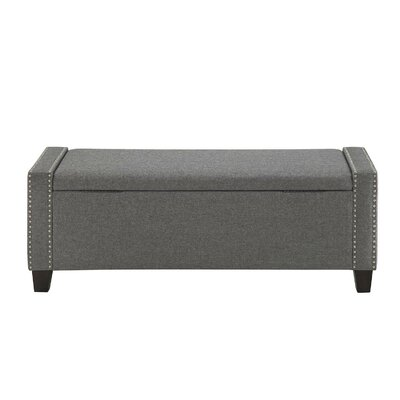 Hemington Upholstered Storage Bench Upholstery: Gray