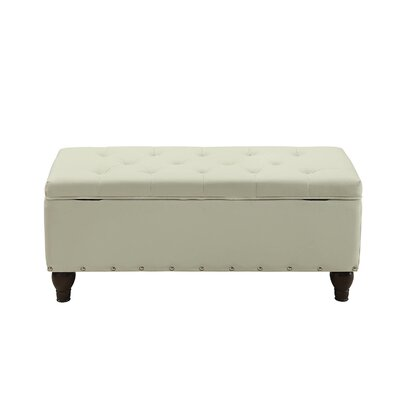 Hemby Faux Leather Storage Bench Upholstery: Cream