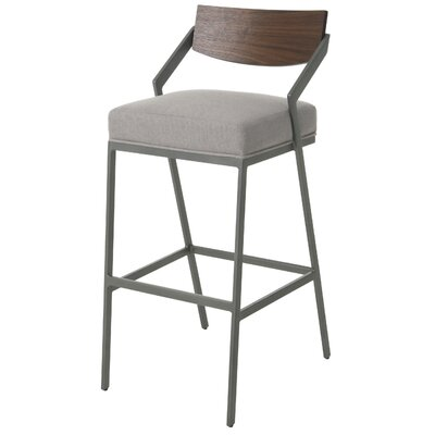 "Remington Bar Stool Size: 30"", Color: Gray"