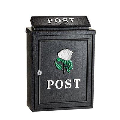 Embossed Rose Locking Wall Mounted Mailbox