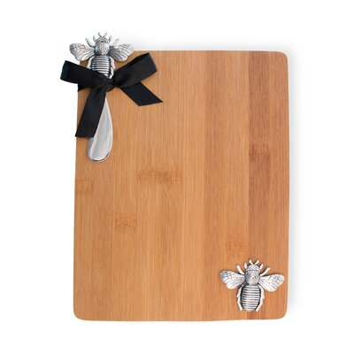 Bamboo Bumblebee Cutting Board and Spreader