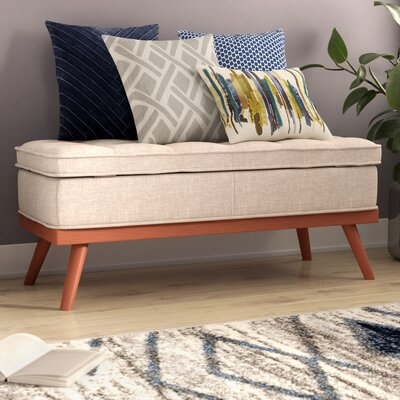 Ronquillo Upholstered Storage Bench Upholstery: Oatmeal