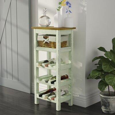 Pervenche 9 Bottle Floor Wine Rack Color: White