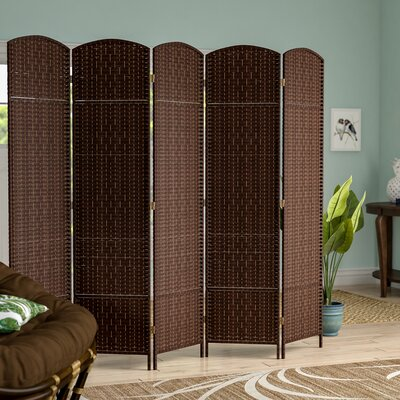 Anthurium 5 Panel Room Divider Color: Dark Mocha