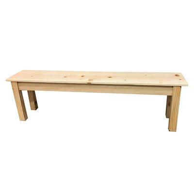 "Hannan Wood Bench Size: 17"" H x 24"" W x 12"" D"