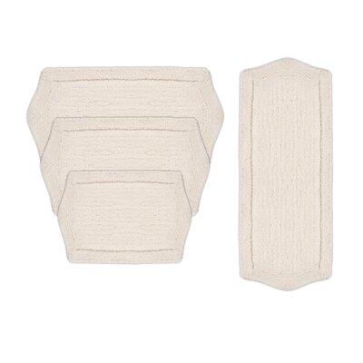 Shera 4 Piece Bath Rug Set Color: White