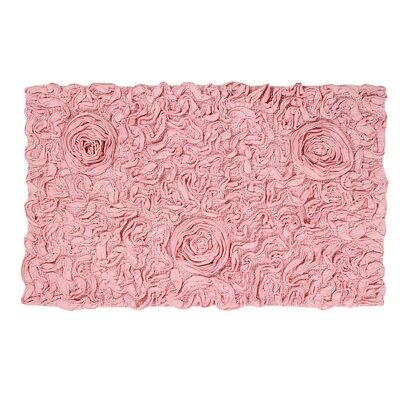 "Bell Flower Bath Rug Color: Pink, Size: 24"" W x 40"" L"