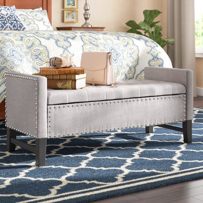 Auberge Storage Bench Upholstery: Light Gray