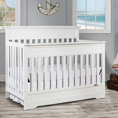 Roy 5-in-1 Convertible Crib Color: Snow Fall