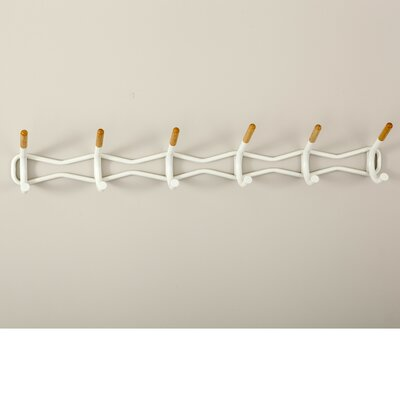 Munsell Wall Mounted Coat Rack Color: Cream