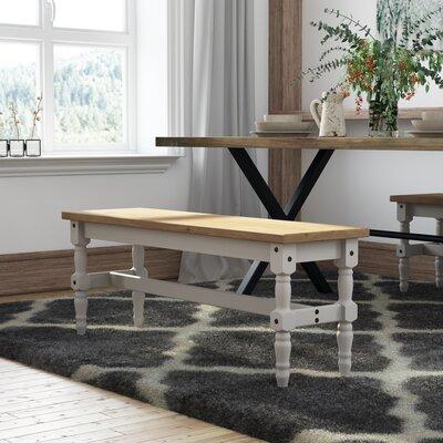 Pinard Solid Wood Bench Finish: Gray Wash