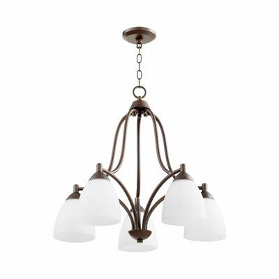 Brophy 5-Light Shaded Chandelier Color: Oiled Bronze