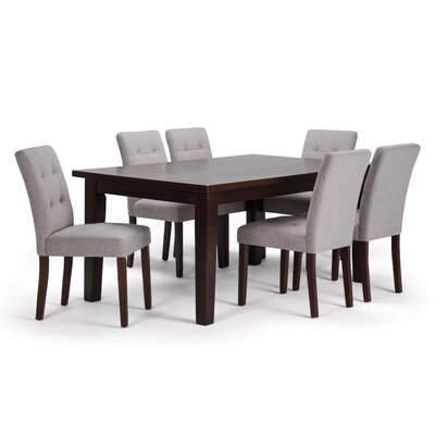 Andover 7 Piece Dining Set Chair Color: Cloud Grey