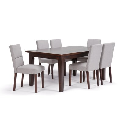 Ashford 7 Piece Dining Set Chair Color: Cloud Grey