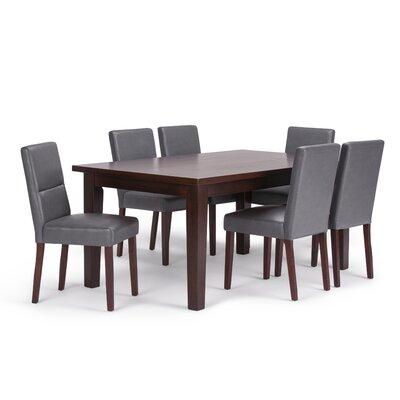 Ashford 7 Piece Dining Set Chair Color: Stone Grey