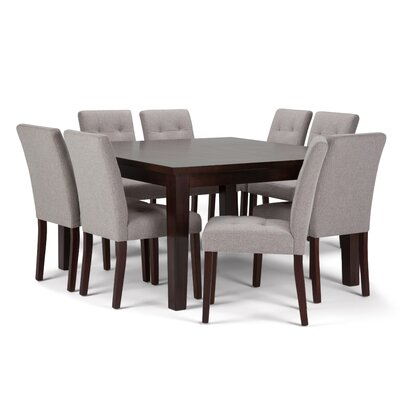 Andover 9 Piece Dining Set Chair Color: Cloud Grey