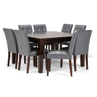 Andover 9 Piece Dining Set Chair Color: Stone Grey