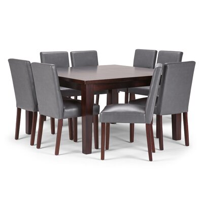 Ashford 9 Piece Dining Set Chair Color: Stone Grey